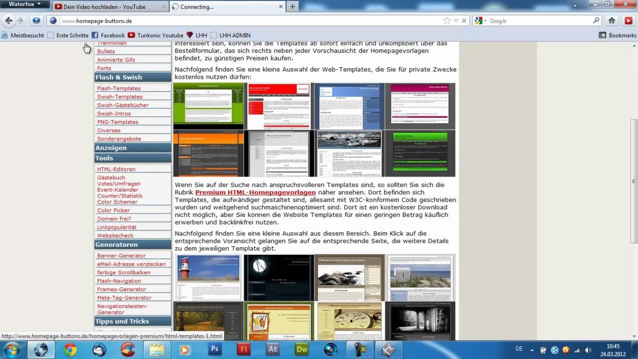 Homepage erstellen und bearbeiten, einfach und kostenlos [Tutorial ...