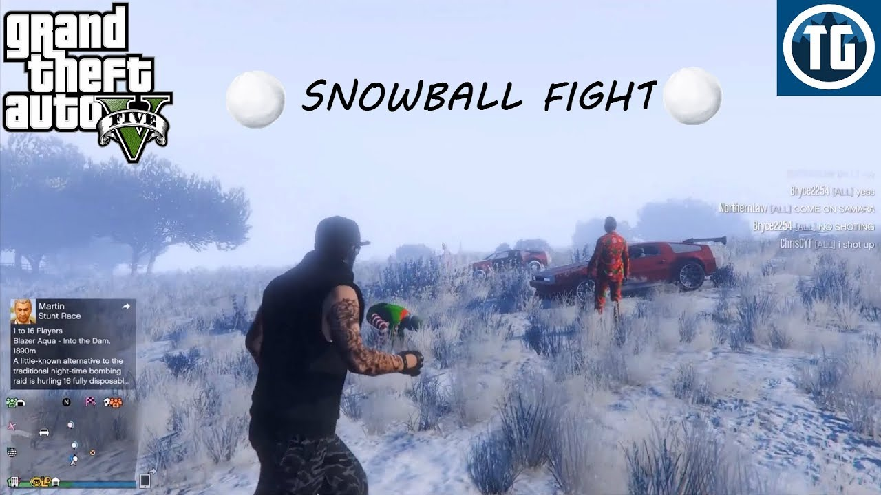 SNOWBALL FIGHT W/ TYPICAL GAMER!! (GTA 5 ONLINE)