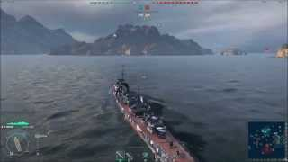 World of Warships: Gnevny 4 Kills 2 Devastating Strike