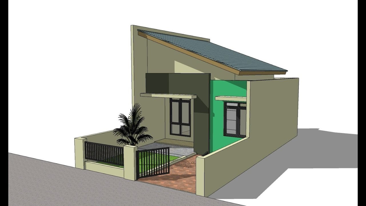 Sketchup house design Type 36 YouTube
