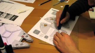 Papercraft Millenium Falcon (Time Lapse)
