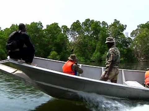 African special forces show US Marines small boat tactics