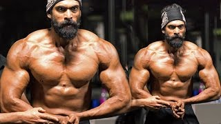 Repeat youtube video Rana Daggubati's Gym Bodybuidling Workout For Bahubali 2 - The Conclusion Movie