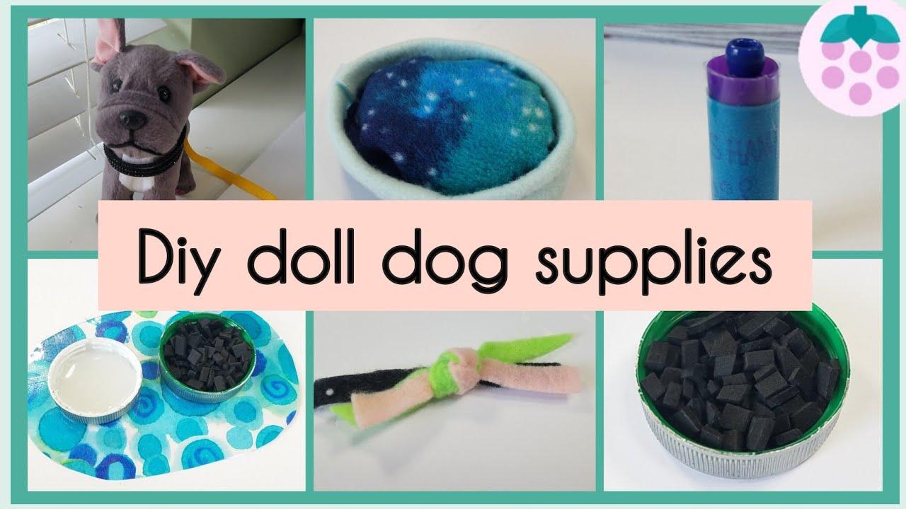 DIY American Girl Doll Dog Supplies   How to make doll pet stuff  