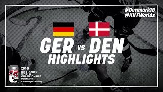 Game Highlights: Germany vs Denmark May 4 2018 | #IIHFWorlds 2018