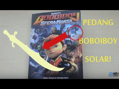 Pedang Boboiboy Solar !? Boboiboy The Movie Komik