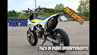 TEST HUSQVARNA 701 2017 Evo1 + PARAGONE KTM SMC-R 690