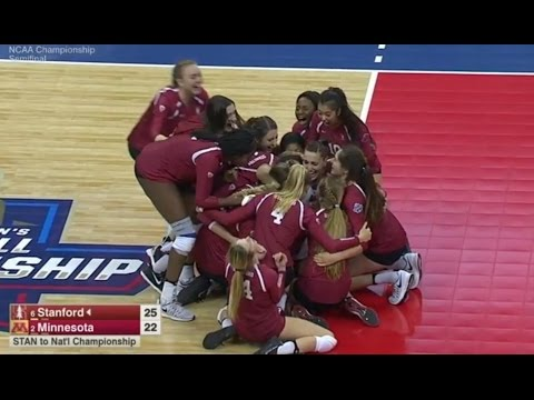 Stanford v Minnesota, 2016 NCAA Women's Volleyball Semifinal Match