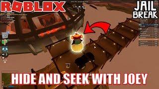 THE BEST HIDING SPOT EVER???!!! | Roblox Jailbreak Hide and Seek with JoeyDaPlayer
