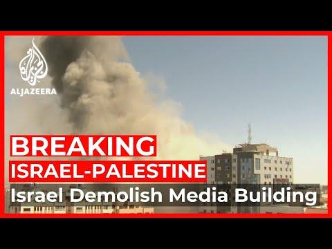 Israeli military demolish Media building in Gaza