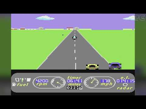 Commodore C64 Gameplay #005: The Great American Cross-Country Road Race (U.S. Tour) #retromonday