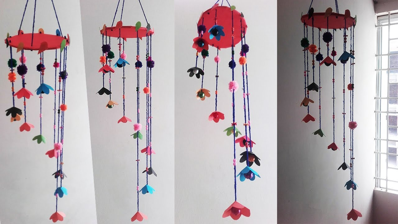 diy paper wind chimes room decor ideas how to make wind chimes
