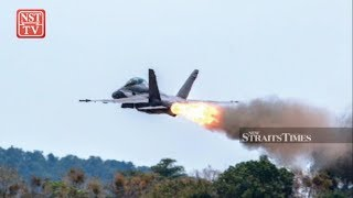 Hornet's engine explodes at 50 feet