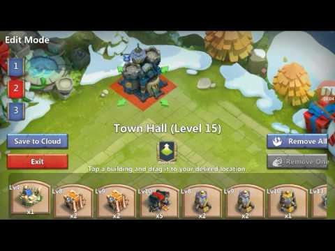Castle Clash Level 15 Town Hall Base (decent) Part. 1