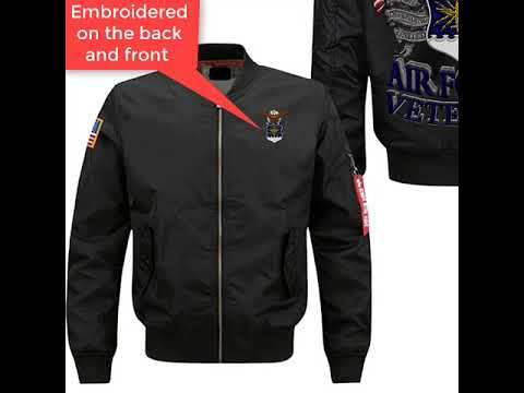U.S AIR FORCE VETERAN EMBROIDERED JACKET