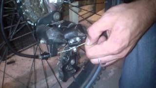 замена тросика заднего переключателя (часть 2)