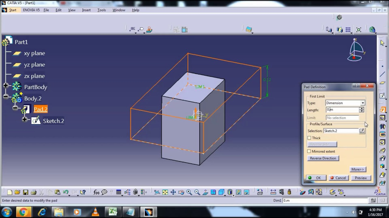 intersection 3d catia v5 tutorial youtube. Black Bedroom Furniture Sets. Home Design Ideas