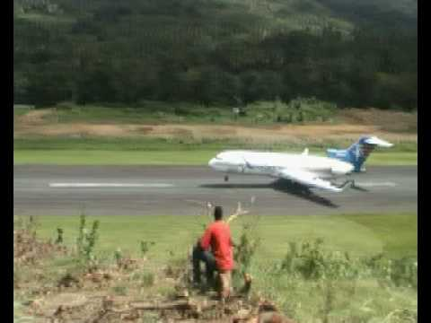 landing at melville hall dominica