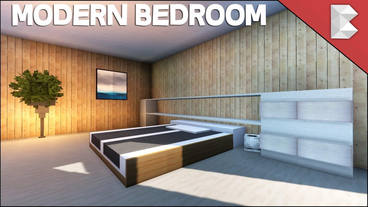 Minecraft Modern Bedroom Tutorial (Interior Design Series ...