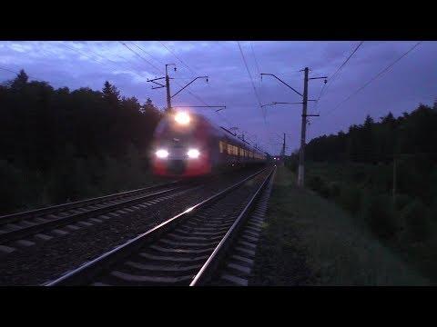 """Электропоезд ЭС1 """"Ласточка"""" Москва - Вязьма"""