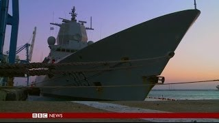 EXCLUSIVE ACCESS - ON BOARD WARSHIP REMOVING SYRIA'S CHEMICAL WEAPONS - BBC NEWS