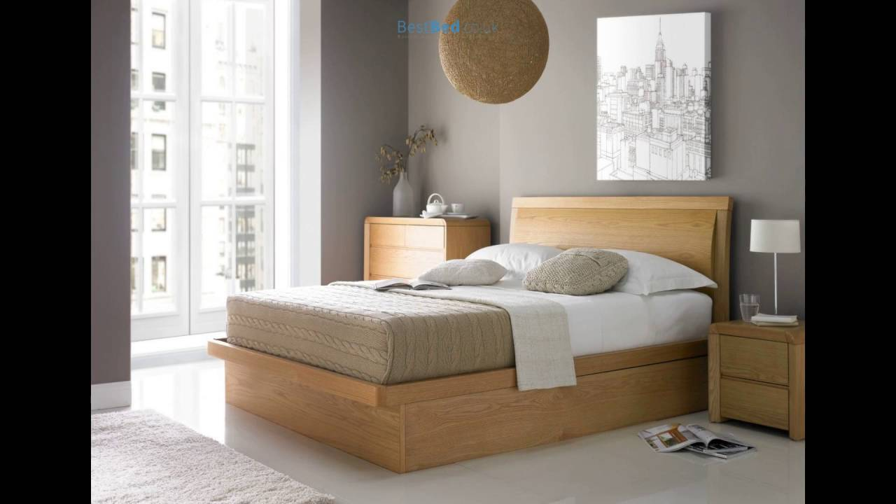 Arran Oak Ottoman Storage Bed - Arran Oak Ottoman Storage Bed - YouTube