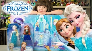 Disney Frozen Elsa's Ice Magic Palace Playset Toys for Girls with Anna & Elsa Kinder Playtime