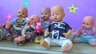 Все куклы пупсы Алисы Беби Борн Пикабу All dolls Alice Baby born Peekaboo doll