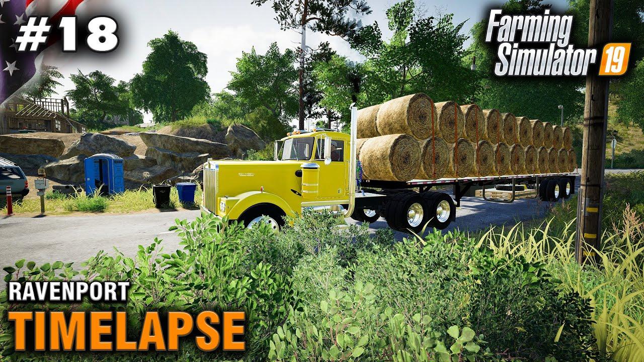 FS19 Timelapse Ravenport #18 Selling Bales