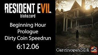 Resident Evil 7 Beginning Hour (PC) Speedrun - Dirty Coin/Dummy Finger - (6:10.00) [WR]