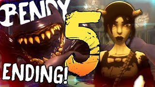 DEFEATING BENDY AND LEAVING THE STUDIO!    Bendy and the Ink Machine - Chapter 5