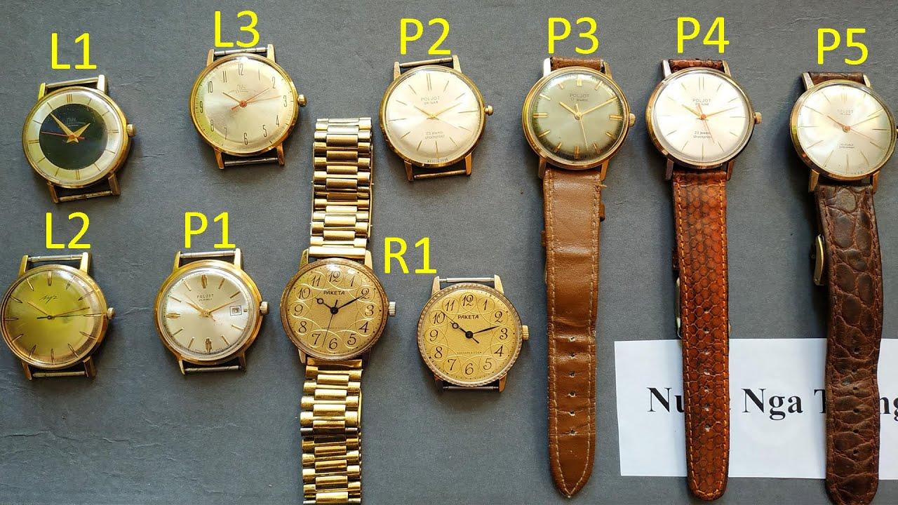 Trên tay mấy chiếc đồng hồ cổ Poljot Luch Raketa   Đồng hồ Liên Xô