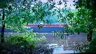 BARGE GOING DOWN THE OUACHITA RIVER NEAR CALION