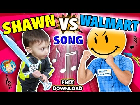 "Thumbnail: BABY SHAWN vs. WALMART! Kids Rap Song ""Touch & Rhyme"" Challenge (FUNnel Vision Music Video Vlog)"