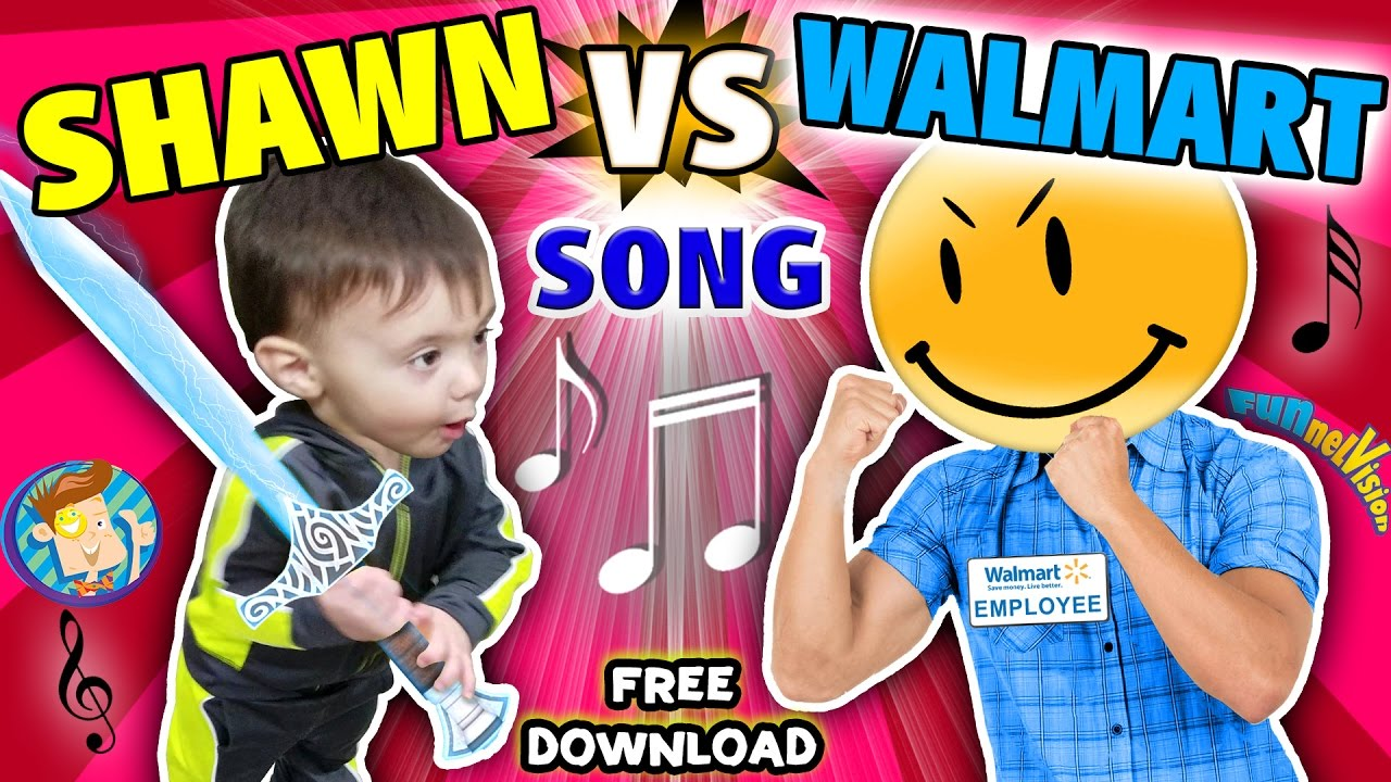 Uncategorized Free Kids Music Videos baby shawn vs walmart kids rap song touch rhyme challenge funnel vision music video vlog