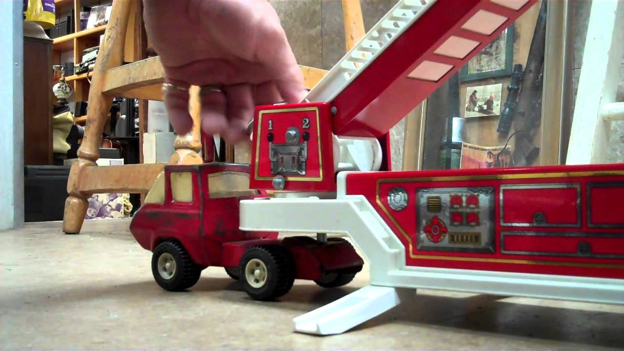 Toy Firetruck for sale, vintage cab and Tonka hook and ladder 1983 ...