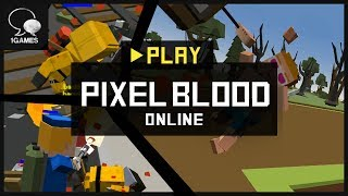 Play Zombie Hunting on Mobile Phone Game!! Pixel Blood Online