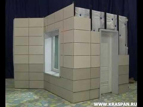 Монтаж вентилируемых фасадов Краспан часть 5 (Керамогранитные плиты)