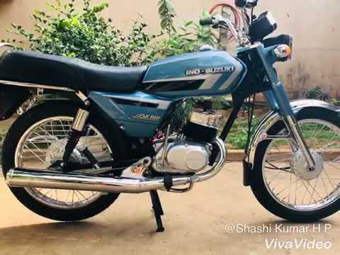ind-suzuki ax100 (made in japan🇯🇵) completely restored in bangalore by  2-stroke shashi🏁🇮🇳
