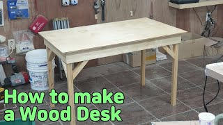How to make a wood desk / tabl…
