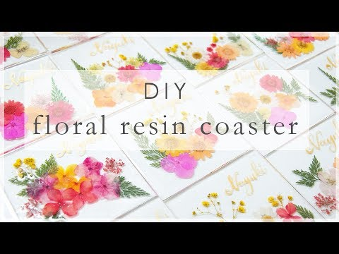 Floral Resin Coaster | DIY