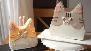 고양이 케이크 만들기 cat cake recipe 가나…