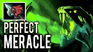 THE BEST EBOLA VIPER In The World! 23 Kills Perfect Game by Meracle- Patch 7.04 Meta Dota 2