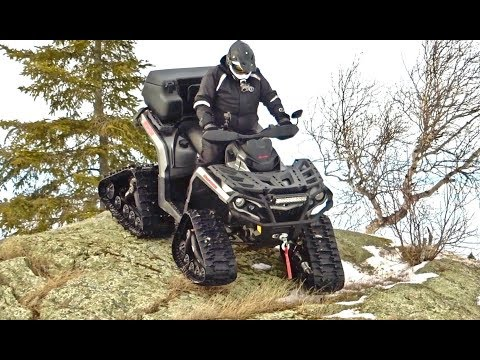 ATV Winter Tracking To Twin Grass Lake - Can-Am 1000 & Yamaha Grizzly 700 - Mar. 19, 2017