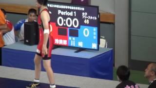 レスリング 女子46Kg級 1回戦 埼玉栄(埼玉県) - 朝明(三重県) インター...