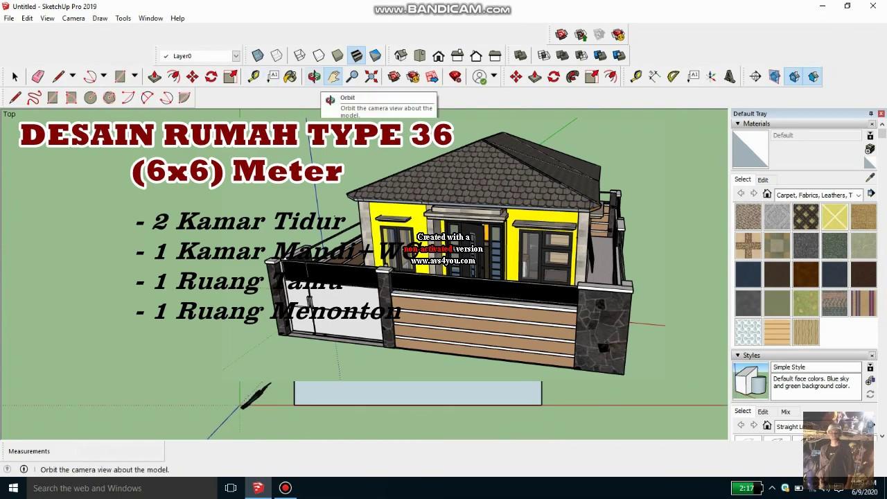 Desain Rumah TYPE 36 (6x6 Meter) || Cocok banget untuk ...