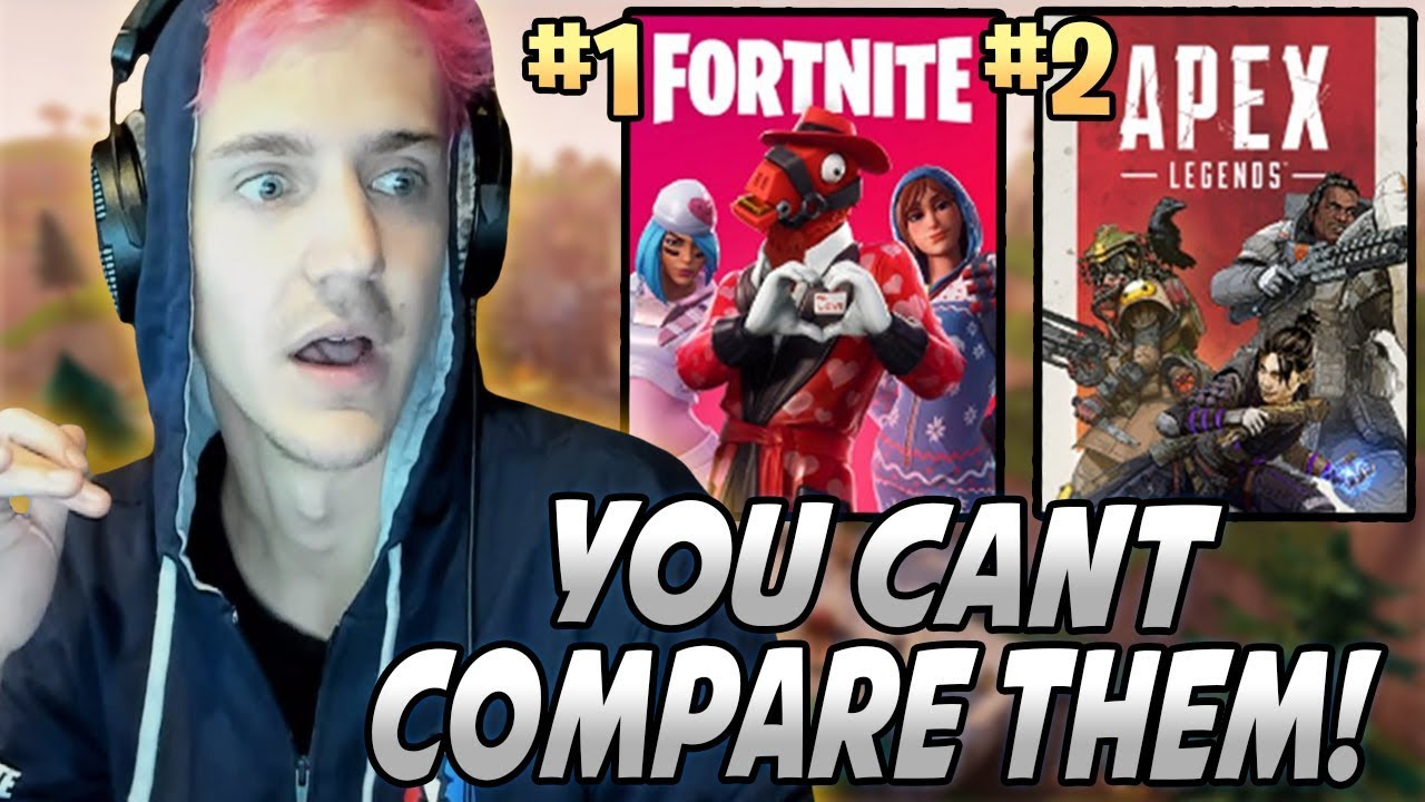 ninja explains why he likes fortnite more than apex legends why you can 39 t compare them youtube. Black Bedroom Furniture Sets. Home Design Ideas