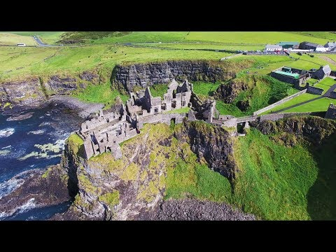 Dunluce Castle Co.Antrim N.Ireland with a DJI Phantom 4