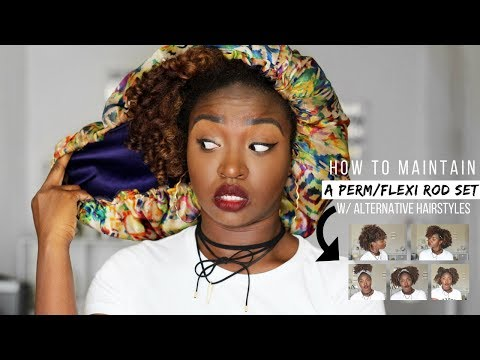 How To Maintain Rod Set + Night Time Routine | Natural Hair