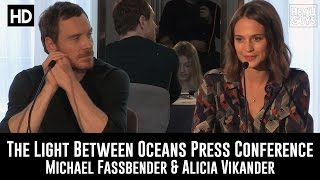 The Light Between Oceans Press Conference In Full Michael Fassbender Alicia Vikander